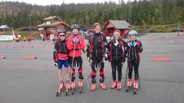 KM Rulleski 2015 - Fv. Herman, Erland, Martin, Julie og Kamilla.